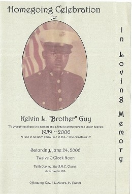 Kelvin Lewis (Brother) Guy (6th Generation)