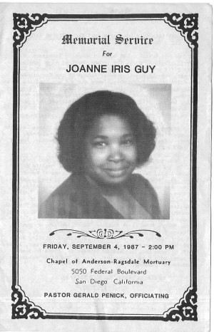 Joanne Iris Guy (6th Generation)