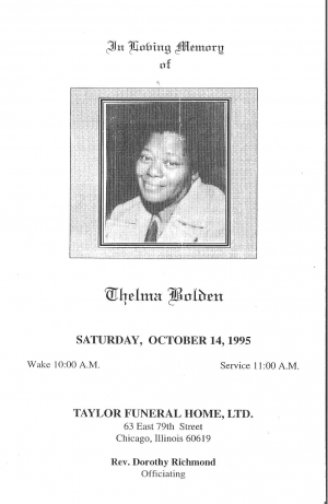 Thelma Bolden (5th Generation)