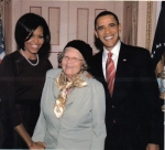 Gertrude with the President and 1st Lady