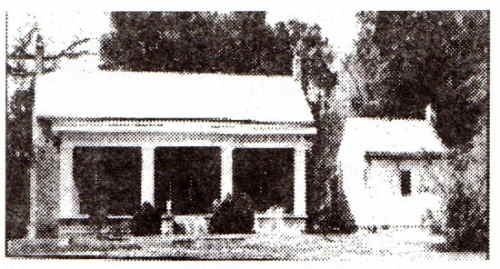 The 1st home of Dr. Joseph Albert Guy in Tuscumbia, Alabama in 1822.