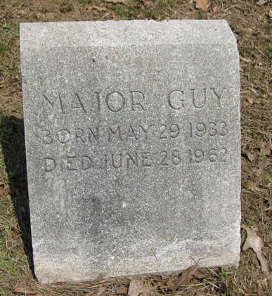 Major Guy Sr. (1933-1962)