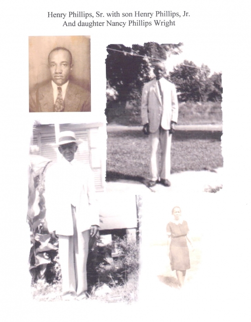 Henry (Uncle Buddy) Phillips Sr, Nancy Phillips-Wright, & Henry Phillips Jr.
