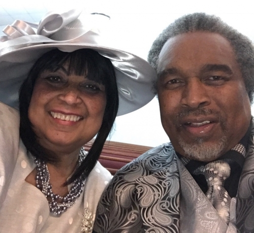 Mary Hayden-James & Pastor Lawrence James